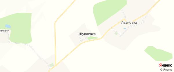 Карта хутора Шуваевки в Белгородской области с улицами и номерами домов