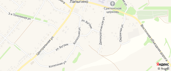Демократическая улица на карте села Лапыгино с номерами домов