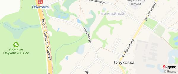 Прудная улица на карте села Обуховки с номерами домов