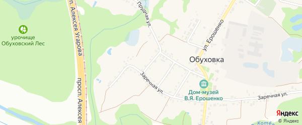 Клубничный переулок на карте села Обуховки с номерами домов