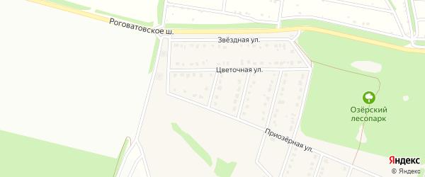 1-й Цветочный переулок на карте села Озерки с номерами домов