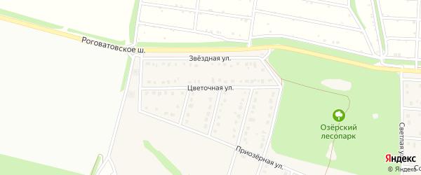 Цветочная улица на карте села Озерки с номерами домов