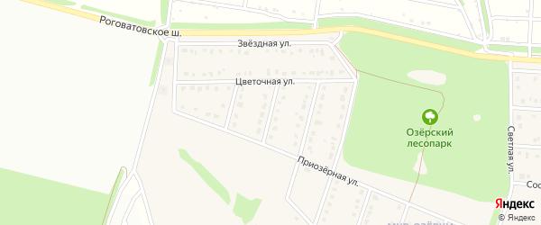 2-й Цветочный переулок на карте села Озерки с номерами домов