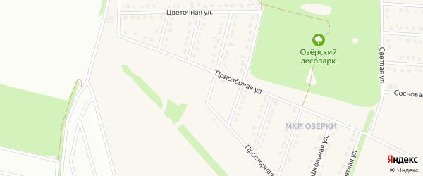 1-й Приозерный переулок на карте села Озерки с номерами домов