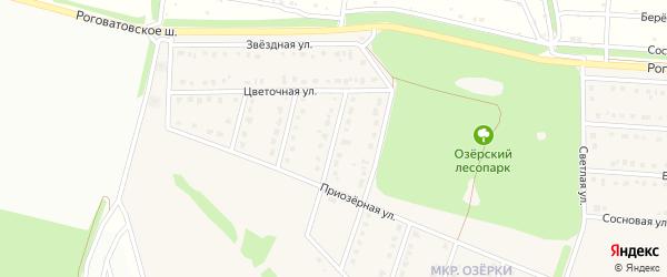 3-й Цветочный переулок на карте села Озерки с номерами домов