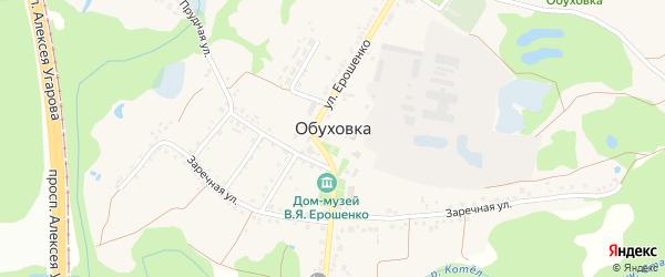 Тенистая улица на карте села Обуховки с номерами домов