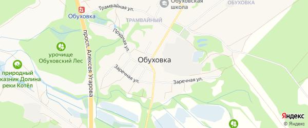Карта села Обуховки в Белгородской области с улицами и номерами домов