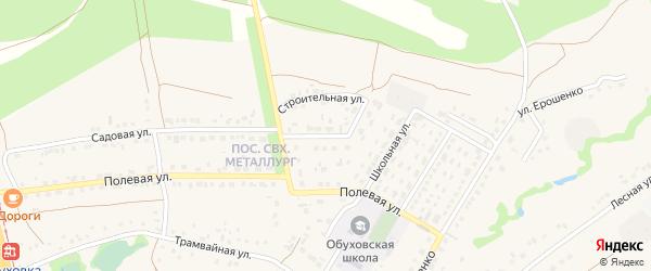 Березовая улица на карте села Обуховки с номерами домов