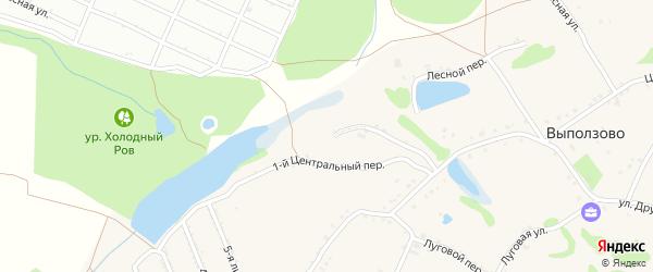1-й Центральный переулок на карте села Выползово с номерами домов