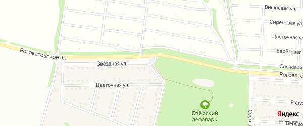 Звездная улица на карте села Озерки с номерами домов