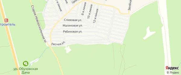 СТ Дубрава на карте Старооскольского района с номерами домов