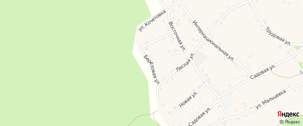 Березовая улица на карте Курского села с номерами домов