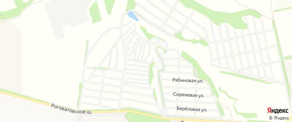 СНТ Родники на карте села Озерки с номерами домов