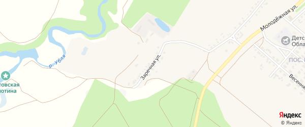 Заречная улица на карте села Котово с номерами домов