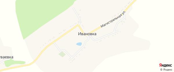 Магистральная улица на карте села Ивановки с номерами домов