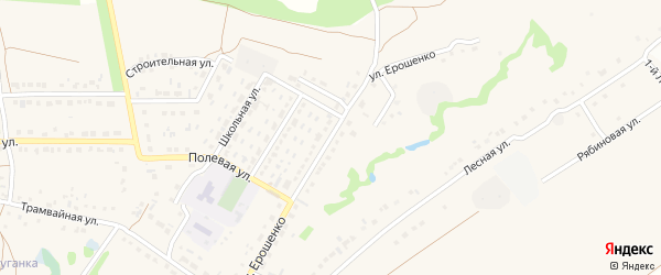 Улица Ерошенко на карте села Обуховки с номерами домов