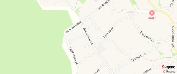Восточная улица на карте Курского села с номерами домов