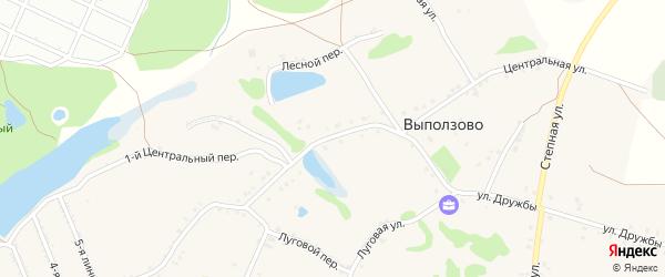 Центральная улица на карте села Выползово с номерами домов