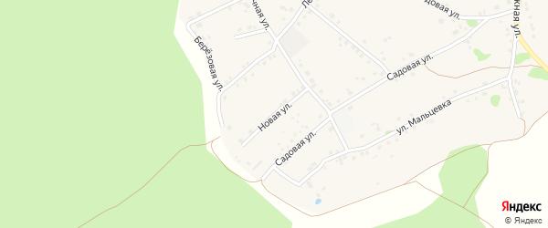 Новая улица на карте Курского села с номерами домов