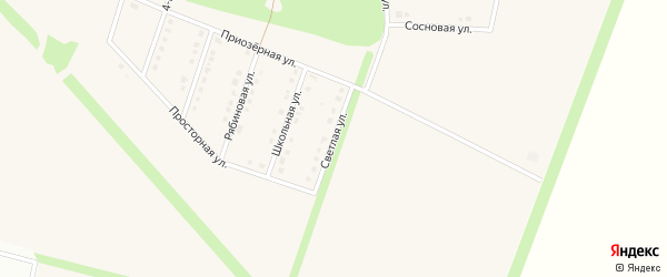 Светлая улица на карте села Озерки с номерами домов