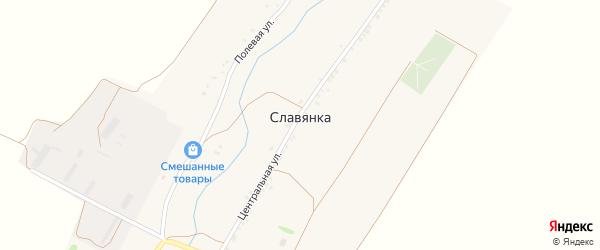 Сукмановская улица на карте хутора Славянки с номерами домов