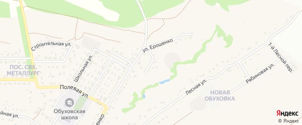 Овражный переулок на карте села Обуховки с номерами домов