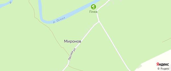 Лесная улица на карте хутора Миронова с номерами домов