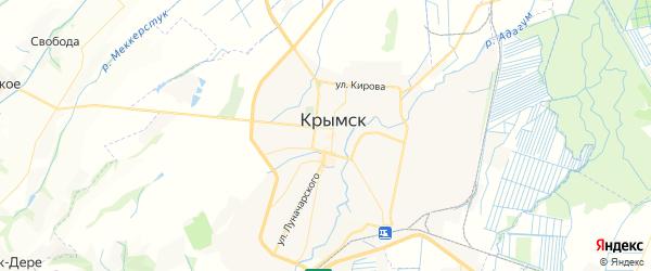 Карта Крымска с районами, улицами и номерами домов