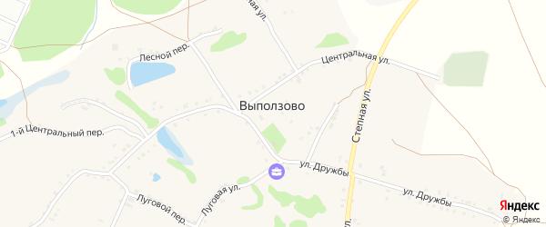 2-й Центральный переулок на карте села Выползово с номерами домов