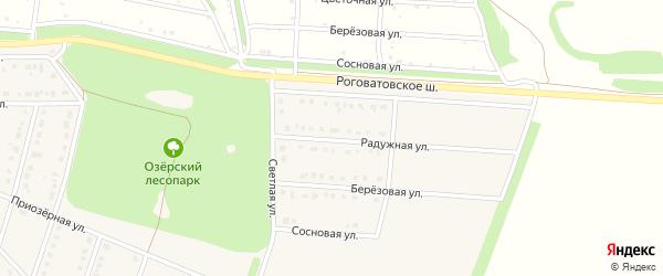 Радужная улица на карте села Озерки с номерами домов