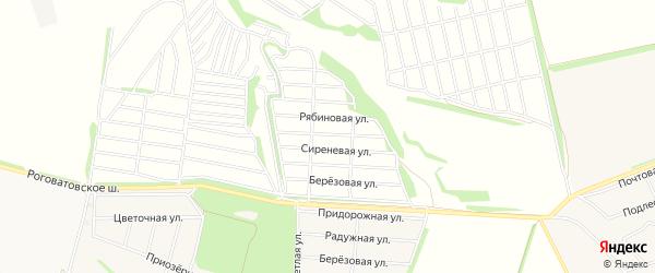 СТ Надежда 4 на карте Старооскольского района с номерами домов