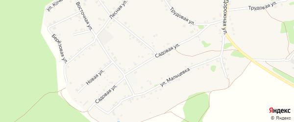 Садовая улица на карте Курского села с номерами домов