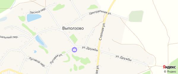 Переулок Дружбы на карте села Выползово с номерами домов