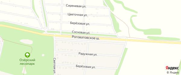 Придорожная улица на карте села Озерки с номерами домов