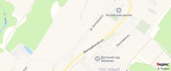 Улица Котовского на карте села Котово с номерами домов