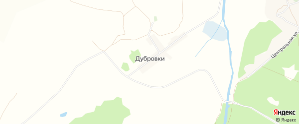 Карта хутора Дубровки в Белгородской области с улицами и номерами домов