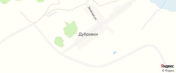 Зеленая улица на карте хутора Дубровки с номерами домов