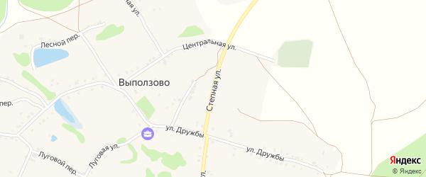Степная улица на карте села Выползово с номерами домов