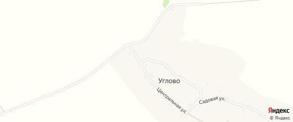 Центральная улица на карте села Углово с номерами домов