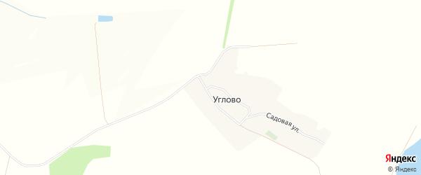 Карта села Углово в Белгородской области с улицами и номерами домов