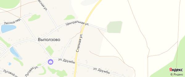 Степной переулок на карте села Выползово с номерами домов