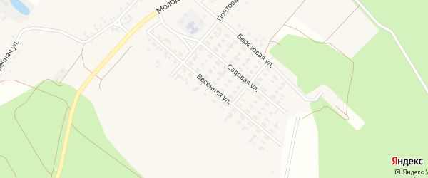 Весенняя улица на карте села Котово с номерами домов