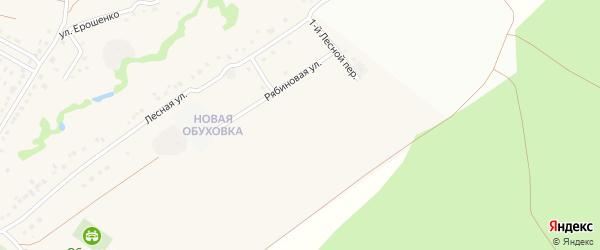2-й Лесной переулок на карте села Обуховки с номерами домов