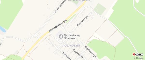 Почтовая улица на карте села Котово с номерами домов