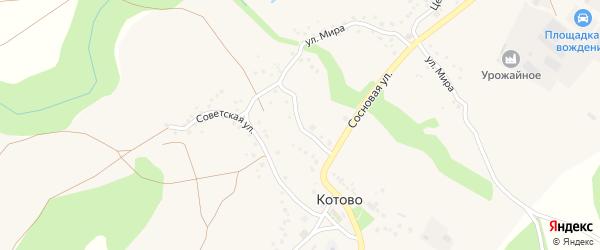 Переулок Мира на карте села Котово с номерами домов