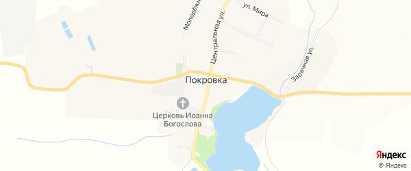 Карта села Покровки в Белгородской области с улицами и номерами домов