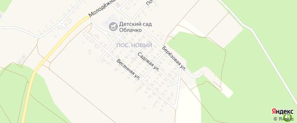 Садовая улица на карте села Котово с номерами домов