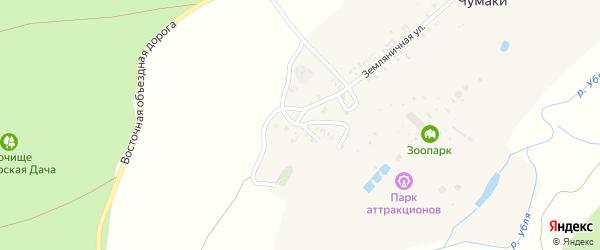 Ивовый переулок на карте хутора Чумаки с номерами домов
