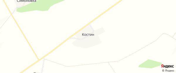 Карта хутора Костина в Белгородской области с улицами и номерами домов