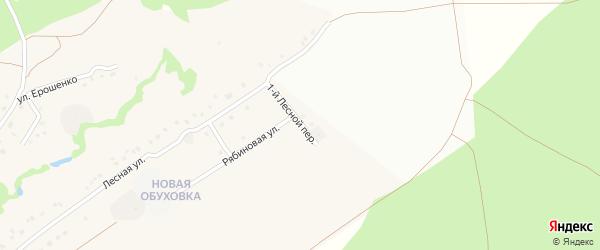 1-й Лесной переулок на карте села Обуховки с номерами домов